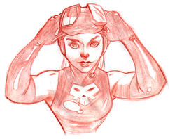 Scuba Girl - Sketch by WarBrown