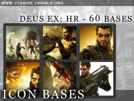 Icon Bases - Deus Ex: Human Revolution by CyanideGraphics