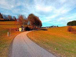 Peaceful country road in spring by patrickjobst