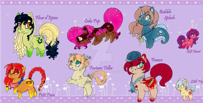My Little Chubby .:Adoptables pack 3:.  [CLOSED] by Lfraysse