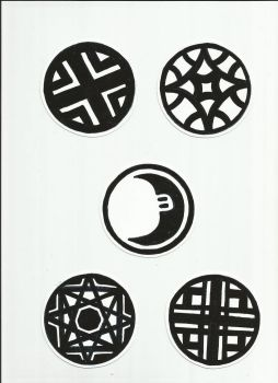 Circle Stickers by Fobiart