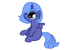 Woona Sitting Flat by InkBlu