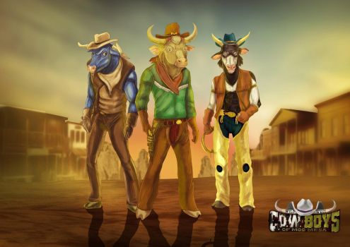 Wild West C.O.W.-Boys of Moo Mesa - by biondoartwork