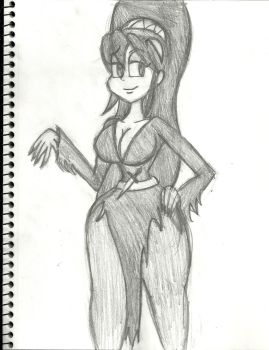 HalloweenFest 2013: El-Filia: Mistress of the Dark by AKB-DrawsStuff