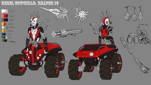 Rebel Cowgirls, Reaper 13 Reference by ScottaHemi