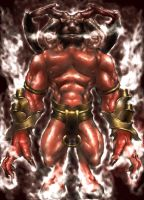 The mighty Ifrit by hyrohiku