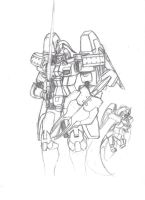Tallgeese kit sketch UNCOLORED by Etheral117
