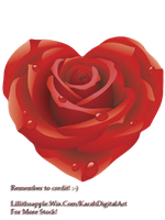 Painted Rose PNG STOCK by KarahRobinson-Art