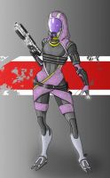 Tali'Zorah by oliverkrings
