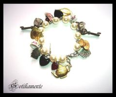Alice Charms Bracelet by Gotikamente