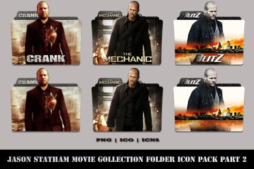 Jason Statham Movie Collection Folder Icon Pack #2 by Bl4CKSL4YER
