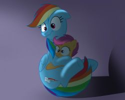RainbowDash and scootaloo will 're scared what the by zigrock001