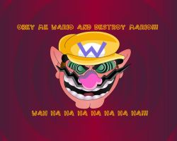 Obey, Me WARIO by KingHedgehog