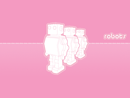 Pink Robots by nouseforaname