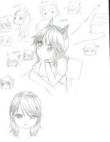 Sketches from the 1st school day by Piikosama143