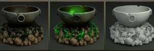 Laticis Imagery FREE Object - Stone Cauldron by Laticis