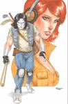 Casey Jones April O'Neil Commission by Sajad126
