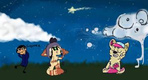 Night Sky by GalaxyPup