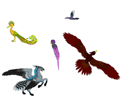 Different birds from the Underworld by ColdBlod23