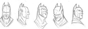 Batman Heads by TrevorMc112