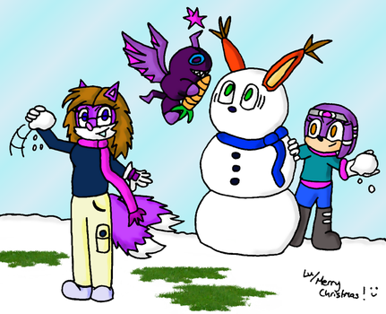 Winter Pic: Snowball Fight by Zi-Raven