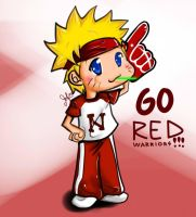 Naruto says:GO RED WARRIORS by MissANN91