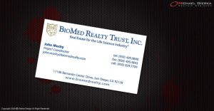 BioMed Realty Business Cards by Gierka-Design
