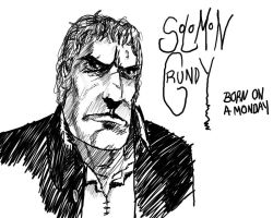 Solomon Grundy quick sketch by thewalkingman