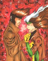 Gambit and Rogue Artist Proof by wheels9696