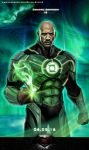 Dwayne Johnson as Green Lantern - John Stewart by OrangeAsgard