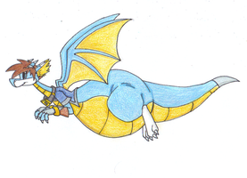 Dragon Drew in Flight by dragovian15