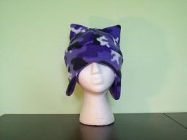 Mad Hatters Purple Camo Cat by WonderlandCreations