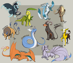 Pokemon Sketch Dump by Famosity