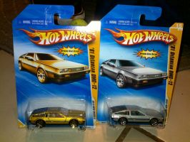 Hotwheels Deloreans by vash68