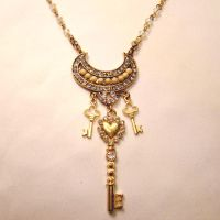 Vintage Skeleton Key Necklace by SteamSociety