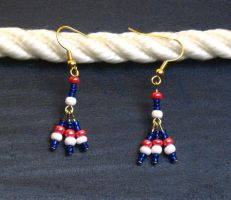 Independence Tridrop Earrings by LadyTal