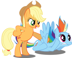 Where Do You Think You're Going Rainbow Dash? by SpellboundCanvas