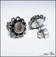 Gothic Sparklers Stud Earrings by 1337-Art