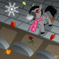 MLP Valier First Snow without You by The-Clockwork-Crow