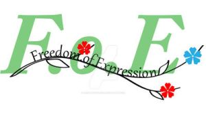 Freedom of Expression Logo by xXStoryWolfXx
