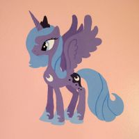 Wall Painting Princess Luna by kitzune-san