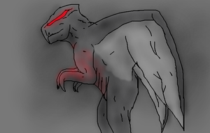 The Mothman, Muto style 2 by TheSpiderAdventurer