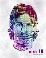 messi face typo design by mnoso90