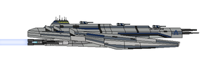 Mass Effect Alverstone Class Cruiser by Seeras