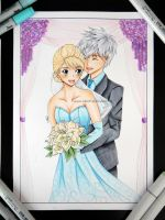Copic Elsa x Jack by Tiha90