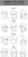 Legend of Korra - Expression Meme by jcords
