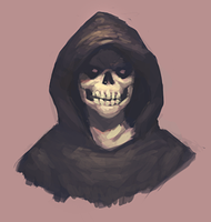 Evil Skull Guy by ehecod