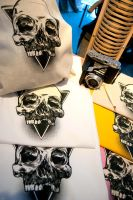 silkscreen skull prints by rosker