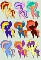 Adoptable Batch 1 (6/9) by lastcurtaincall