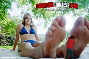 Tiny Massaging Adrianna's Foot by GiantessFantasy